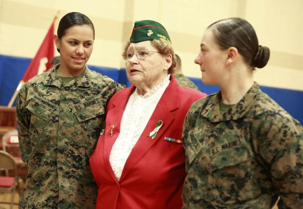 Three Marines have become the first women to graduate from the Corps' tough-as-nails enlisted infantry training school in North Carolina, officials said Thursday. The three completed the 59-day course and met the same test standards as the men, said Marine Corps spokeswoman Capt. Geraldine Carey.